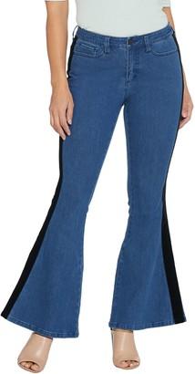 G.I.L.I. Got It Love It G.I.L.I. Petite Flare Leg Jean with Velvet Trim
