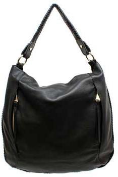 "Christopher Kon Christoper Kon ""PL01259"" Black Leather Handbag"