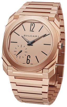 Bvlgari Men's Octo Finissimo 40mm Bracelet Watch, 18k Rose Gold