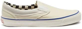 Vans 'Classic Slip-On' leather panel canvas skates