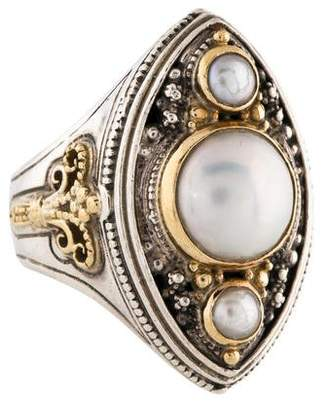 Konstantino Pearl Two-Tone Ring