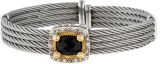 CharriolCharriol 18K Diamond & Onyx Cable Cuff Bracelet