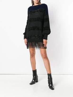Liu Jo long-sleeve striped dress