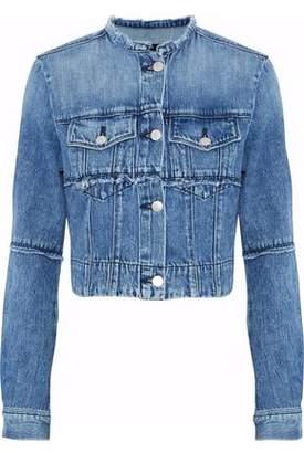 J Brand Satellite Cropped Frayed Denim Jacket