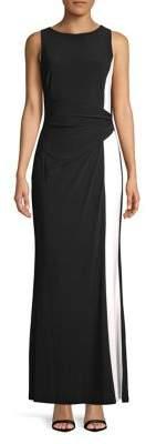 Lauren Ralph Lauren Sleeveless Colorblock Gown