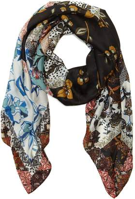 Vince Camuto Folkloric Patchwork Scarf