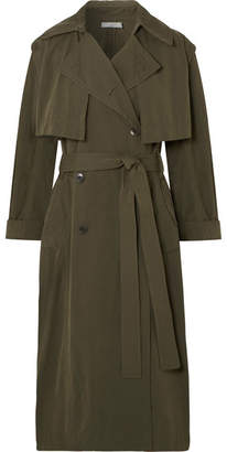 Vince Brushed-twill Trench Coat - Army green