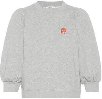 Ganni Lott Isoli Cottage embroidered sweatshirt