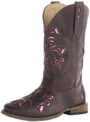 Roper Belle Square Toe Cutout Cowboy Boot (Toddler/Little Kid)
