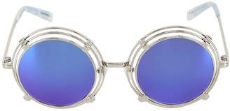 House of Holland Spring Metal Rounded Sunglasses