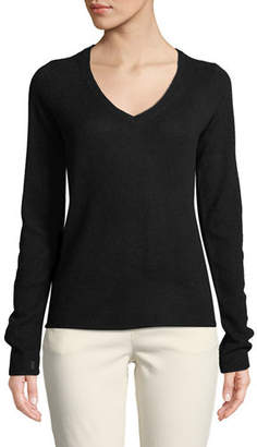 ATM Anthony Thomas Melillo Cashmere V-Neck Long-Sleeve Sweater