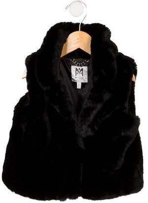 01f5a32e33f8 Milly Girls' Faux Fur Shawl-Collar Vest w/ Tags