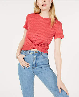 Project 28 Nyc Twist-Front Crop Top