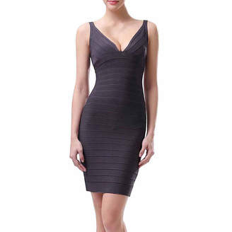 PHISTIC phistic Women's Plunging Neckline Bandage Dress
