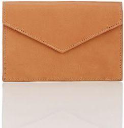 Barneys New York Envelope-Style Pouch-TAN $98 thestylecure.com