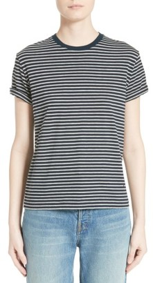 Women's T By Alexander Wang Stripe Cotton Tee $115 thestylecure.com