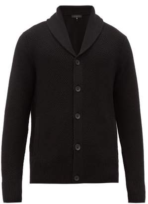 Rag & Bone Cardiff Shawl Lapel Wool Blend Cardigan - Mens - Black