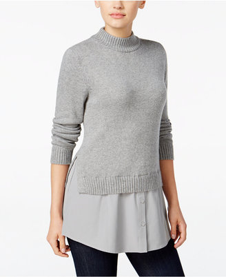 Style & Co. Mock-Neck Layered-Look Sweater, Only at Macy's $59.50 thestylecure.com