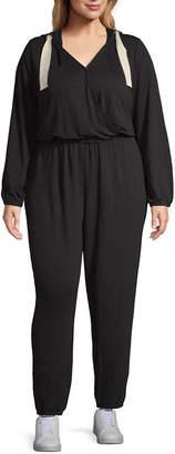 Xersion Long Sleeve Jumpsuit-Plus