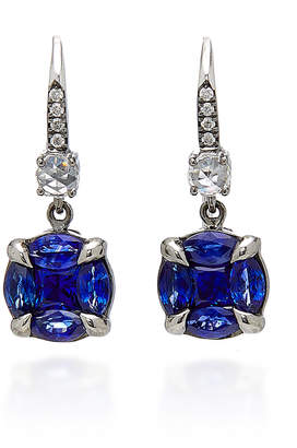 Nam Cho 18K White Gold Rhodium-Plated Sapphire And Diamond Earrings