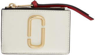 Marc Jacobs Off-White Snapshot Top Zip Multi Card Holder