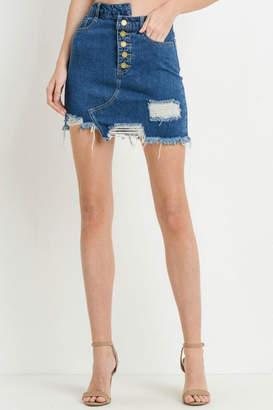 Black Label Destroyed Mini Skirt
