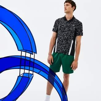 Lacoste Men's SPORT Print Technical Jersey Polo x Novak Djokovic On Court Premium Edition