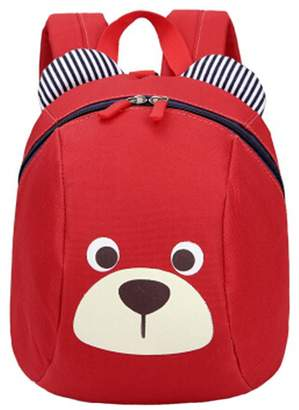 Express Kylin 1-5 years old children shoulder small bag and cute cartoon backpack bag.Red
