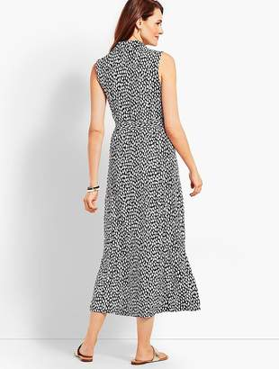 Talbots Sleeveless Cheetah-Print Shirtdress