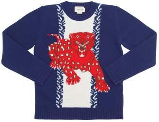 Gucci Tiger Merino Wool Sweater