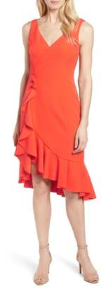 Vince Camuto Laguna Ruffle Sheath Dress