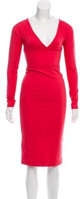 DSQUARED2 Long Sleeve Midi Dress