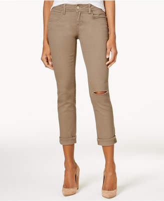 Dollhouse Juniors' Colored Ripped Cropped Jeans $49 thestylecure.com