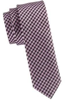 HUGO BOSS Gingham Silk Tie