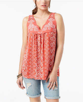 Style&Co. Style & Co Embroidered Sleeveless Top