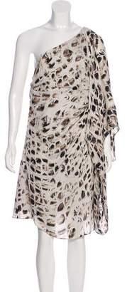 Halston Silk Printed Dress w/ Tags