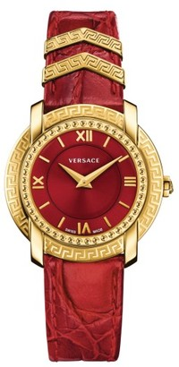 Women's Versace Dv-25 Leather Strap Watch, 36Mm $1,395 thestylecure.com