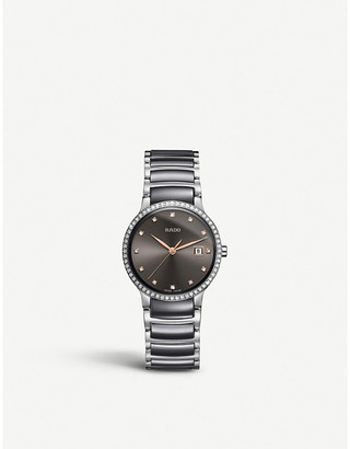 Rado 01.111.0936.3.073 Centrix diamond, stainless steel and ceramic watch