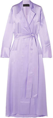 Michael Lo Sordo Belted Silk-satin Maxi Dress - Lilac