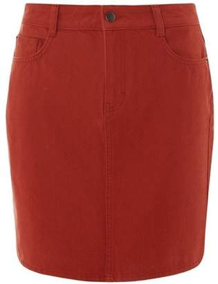Dorothy Perkins Womens Rust Denim Mini Skirt