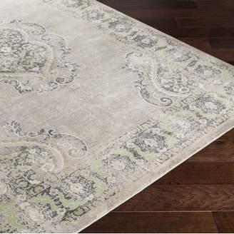 Lark Manor Riviere Grey & Silver Area Rug
