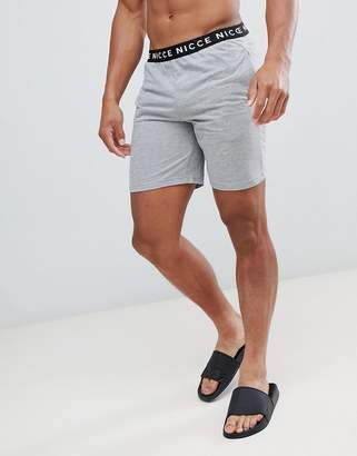 Nicce London lounge shorts in gray with waistband