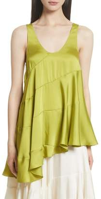 Elizabeth and James Magdalone Asymmetrical Paneled Satin Top