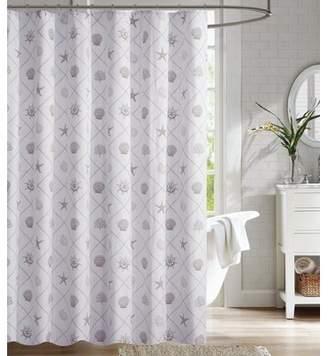 Highland Dunes Nedra Coastal Trellis 100% Cotton Shower Curtain