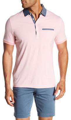 Original Penguin Stripe Chambray Trimmed Polo