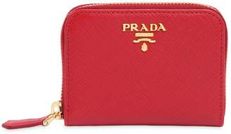 Prada Small Saffiano Leather Zip Coin Purse