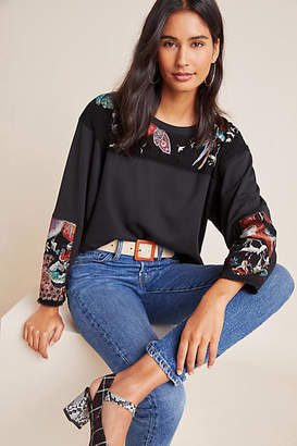 Burning Torch Estelle Embroidered Pullover
