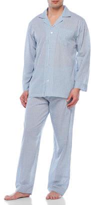 Geoffrey Beene Two-Piece Check Pajama Set