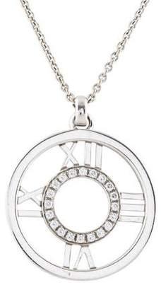 Tiffany & Co. 18K Diamond Atlas Open Pendant Necklace