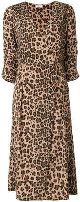 P.A.R.O.S.H. leopard print wrap dress